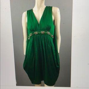 Emerald Green Cape Dress